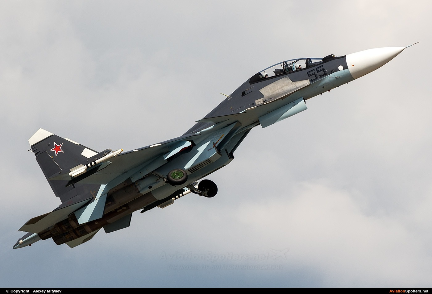 Russia - Air Force  -  Su-30SM  (55 BLACK) By Alexey Mityaev (Alexey Mityaev)