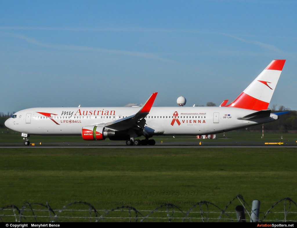 Austrian Airlines  -  767-300ER  (OE-LAY) By Menyhért Bence (hadesdras91)