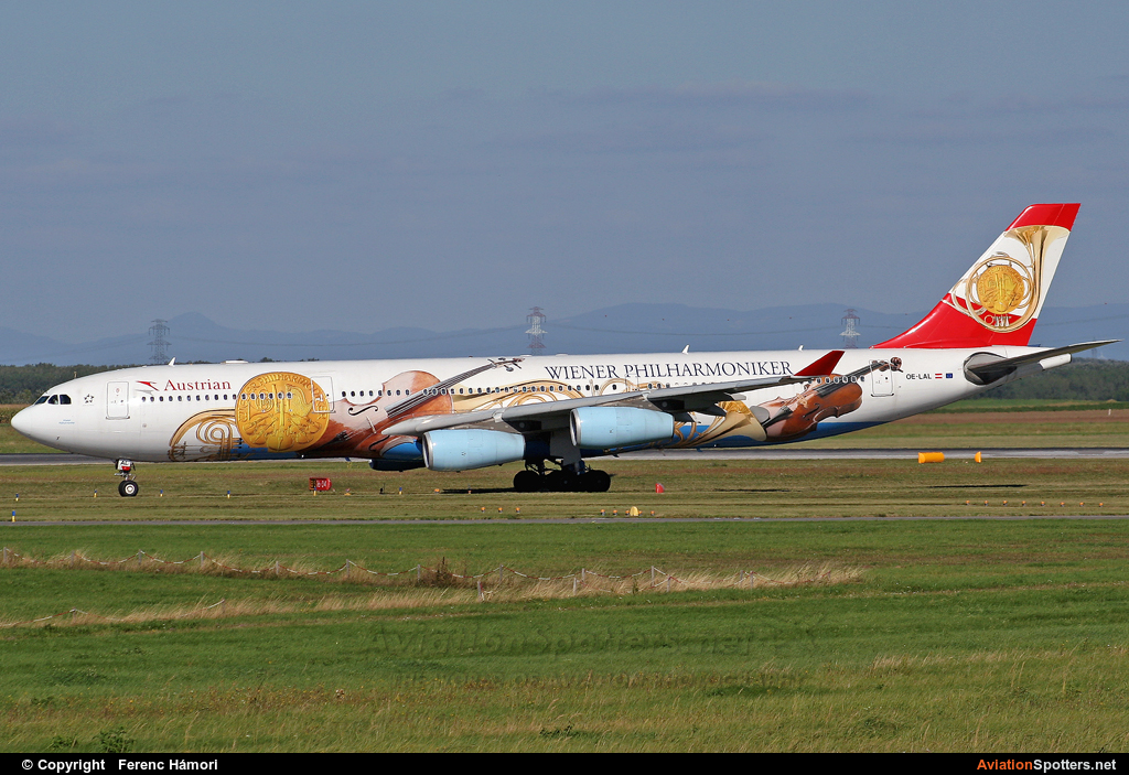 Austrian Airlines  -  A340-200  (OE-LAL) By Ferenc Hámori (hamori)