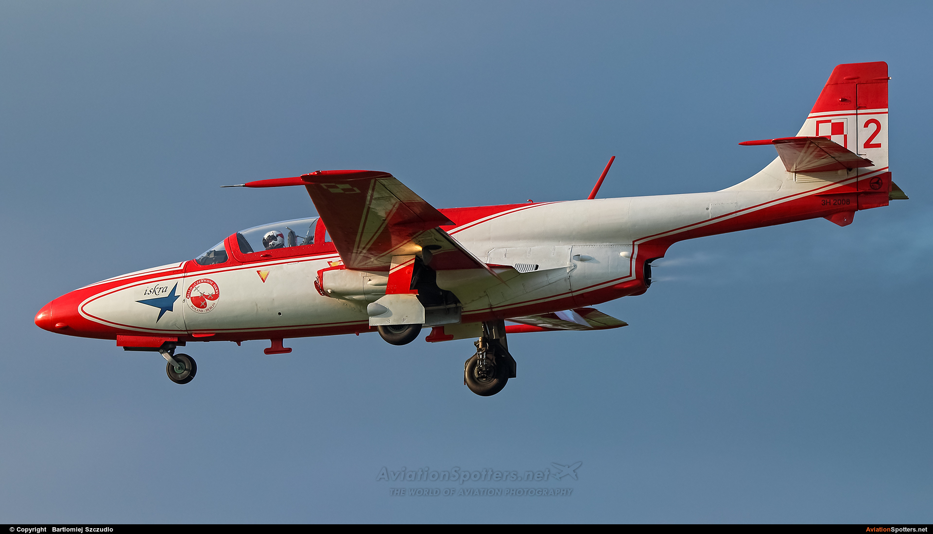 Poland - Air Force: White & Red Iskras  -  TS-11 Iskra  (3H-2008) By Bartlomiej Szczudlo  (BartekSzczudlo)