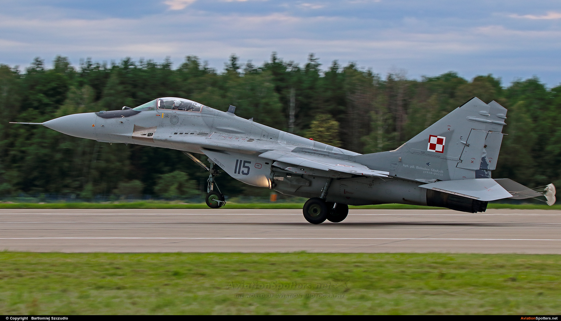 Poland - Air Force  -  MiG-29A  (115) By Bartlomiej Szczudlo  (BartekSzczudlo)