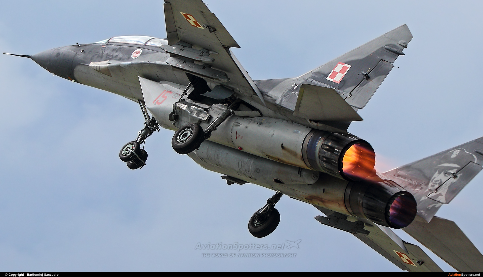 Poland - Air Force  -  MiG-29UB  (15) By Bartlomiej Szczudlo  (BartekSzczudlo)