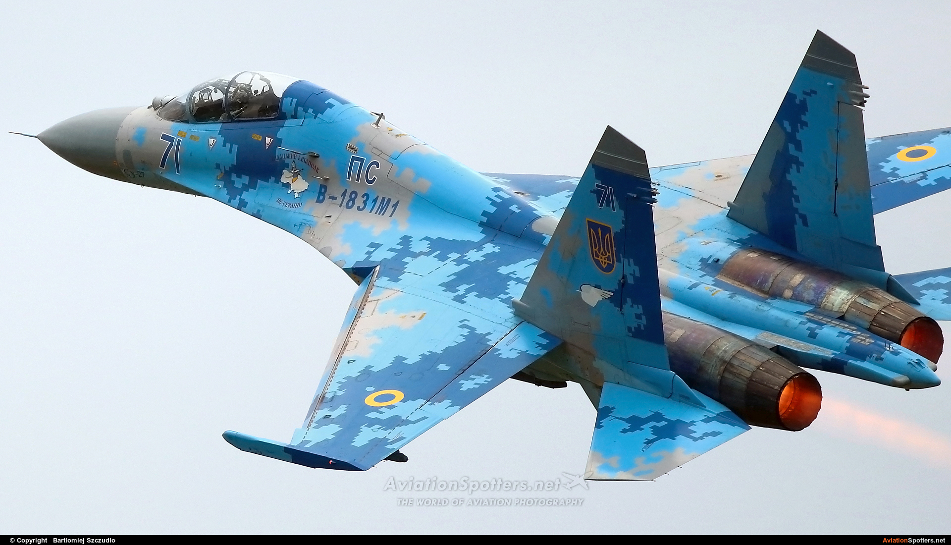Ukraine - Air Force  -  Su-27  (71) By Bartlomiej Szczudlo  (BartekSzczudlo)