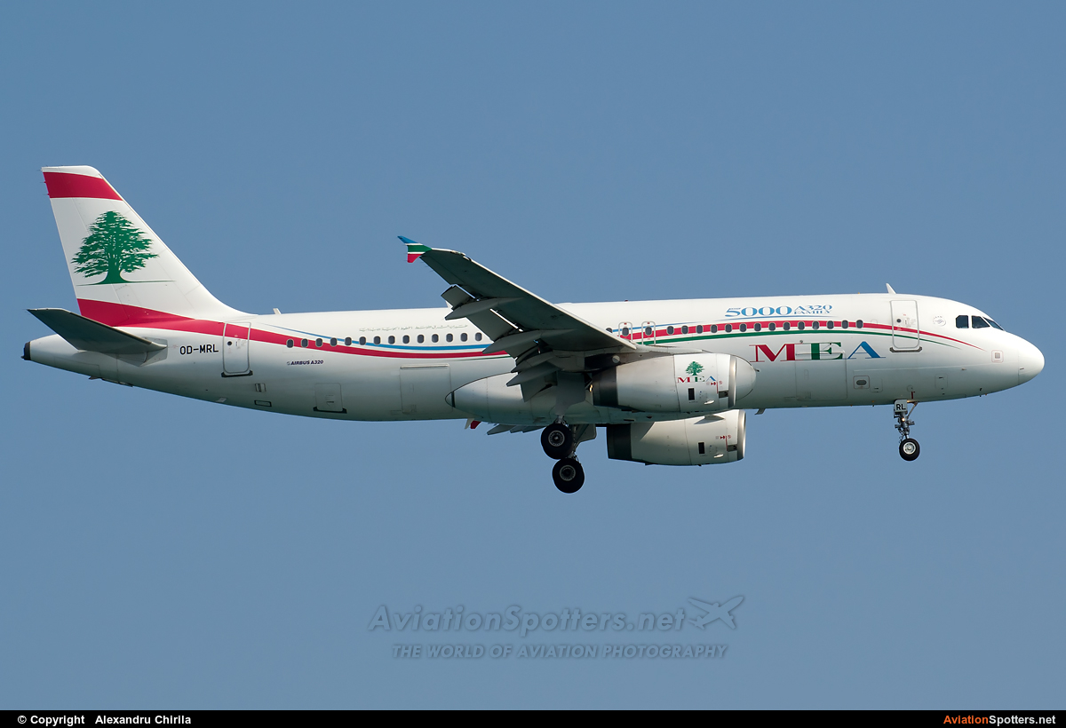 Middle East Airlines - MEA  -  A320-232  (OD-MRL) By Alexandru Chirila (allex)