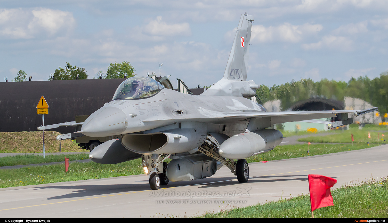 Poland - Air Force  -  F-16C Block 52+ Fighting Falcon  (4075) By Ryszard Dwojak (ryś)