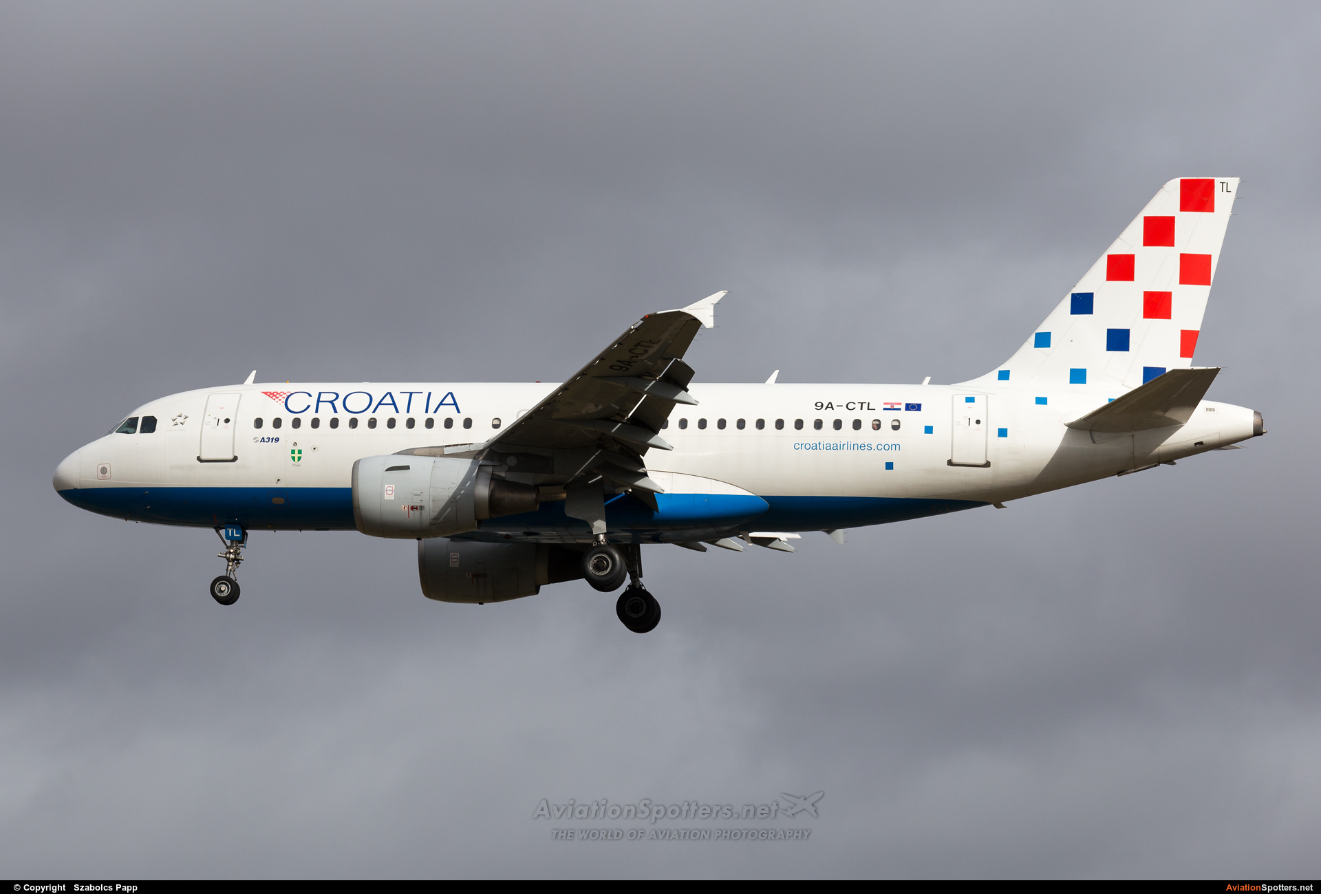 Croatia Airlines  -  A319-112  (9A-CTL) By Szabolcs Papp (mr.szabi)