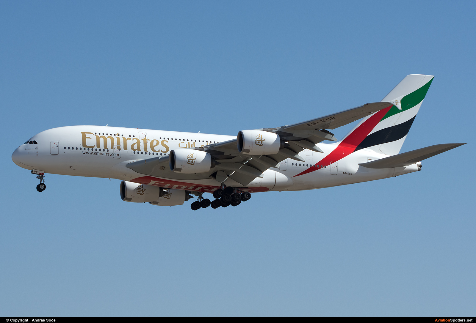 Emirates Airlines  -  A380-861  (A6-EUB) By András Soós (sas1965)