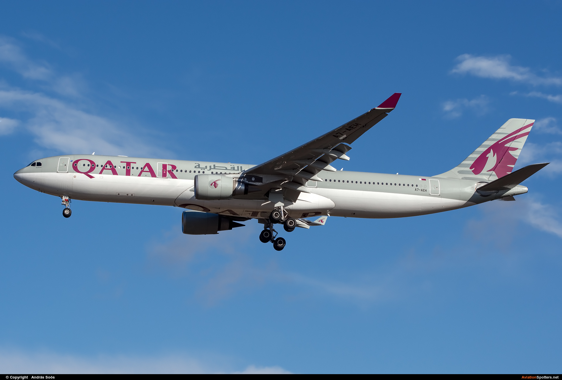 Qatar Airways  -  A330-300  ( A7-AEH) By András Soós (sas1965)